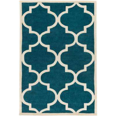 Santorini Harmony Teal 8 ft. x 10 ft. Indoor Area Rug