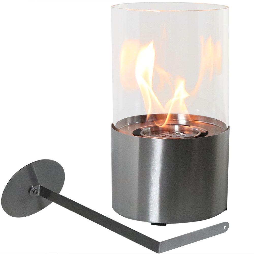 Fiammata 11.50 in. Bio-Ethanol Tabletop Fireplace in Stainless Steel