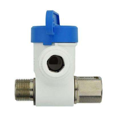 3/8 in. x 3/8 in. x 3/8 in. Polypropylene Push-to-Connect Angle Stop Adapter Valve (10-Pack)