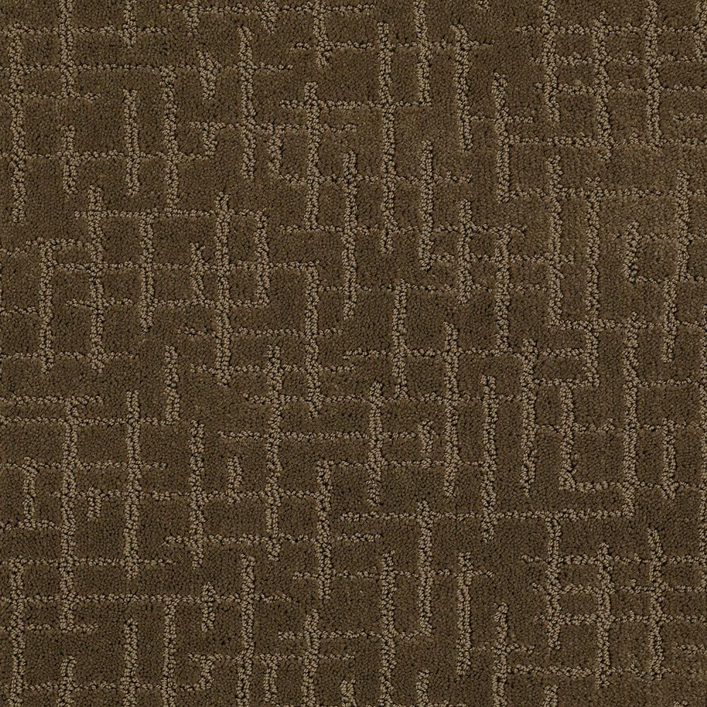 Lifeproof Carpet Sample Latice Color Apple Butter Pattern 8 In