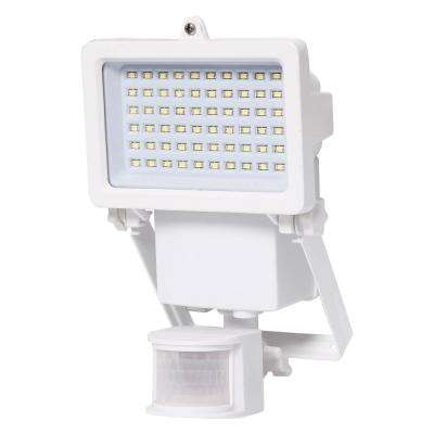 130-Degree White Solar Powered Motion Activated Outdoor Integrated LED Landscape Spot Light