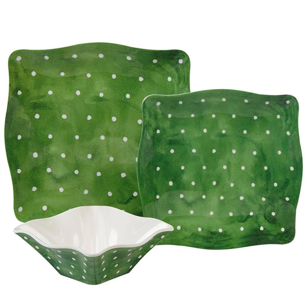 Pallini 12-Piece Sage Green Dinnerware Set