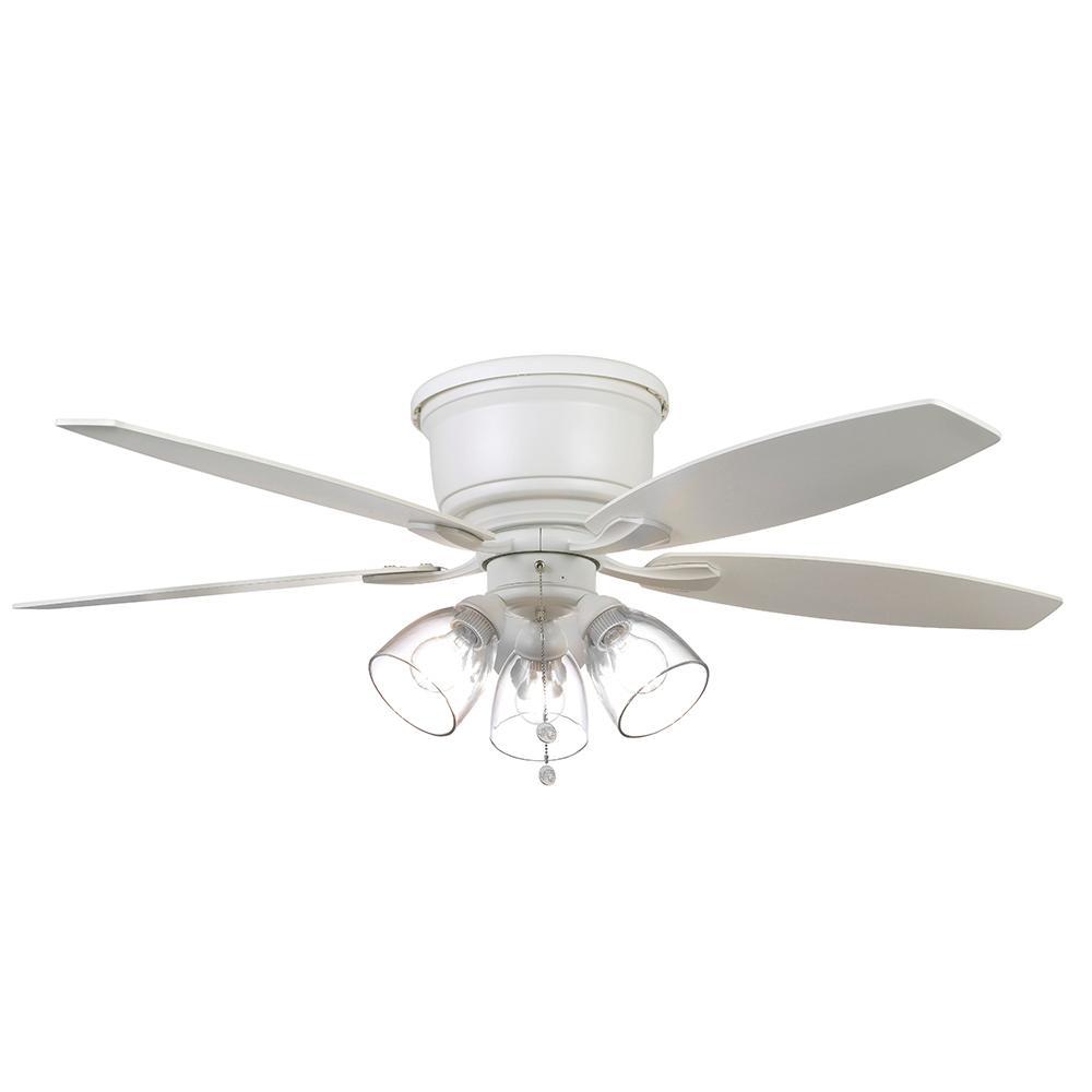 Matte White Hugger Led Ceiling Fan