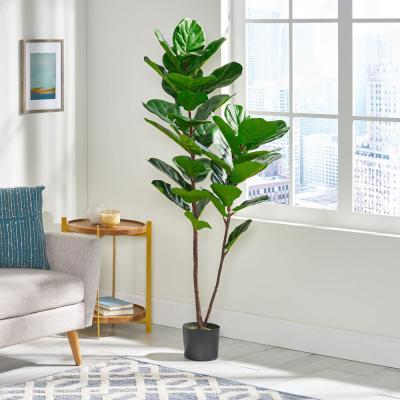 Sherard 5 ft. Green x 2.5 ft. Green Artificial Fiddle-Leaf Fig Tree