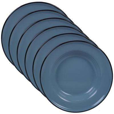 Enamelware 6-Piece Teal 8 in. Salad Plate Set