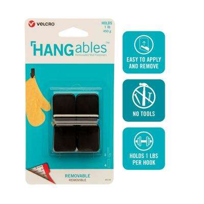 HANGables Removable Small Hook in Black (2-Count)