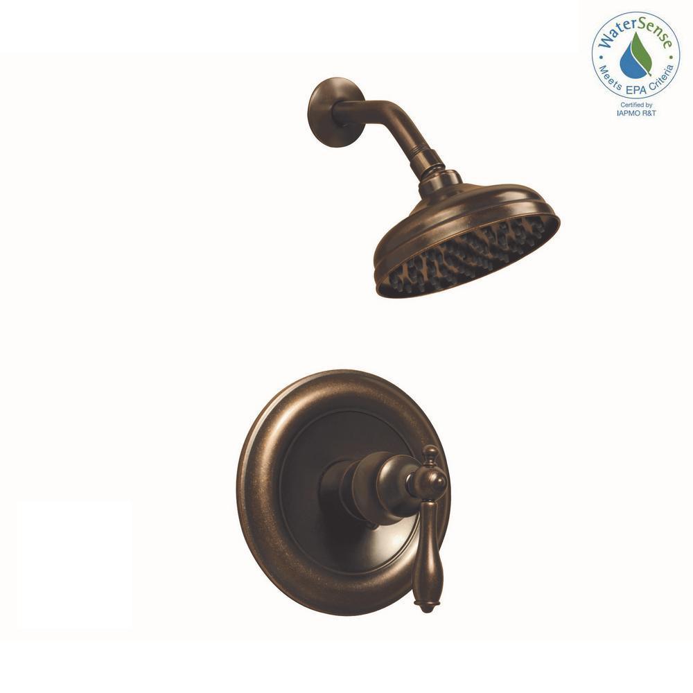 Lyndhurst  Handle Bridge Side Sprayer Kitchen Faucet In Mediterranean Bronze