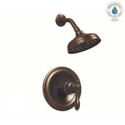 Estates 1-Handle 1-Spray Shower Faucet in Heritage Bronze (Valve Included)