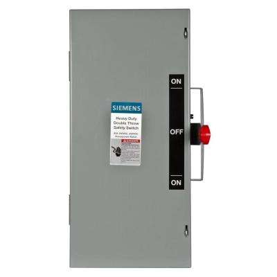 Double Throw 60 Amp 240-Volt 3-Pole Indoor Non-Fusible Safety Switch