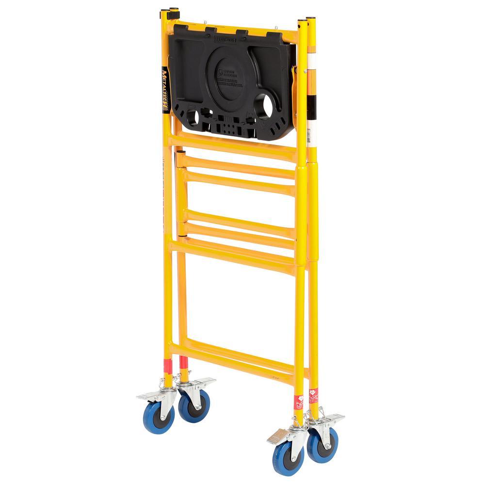 Indoor Scaffolding Platform : Rolling scaffold ladder platform lb load capacity work