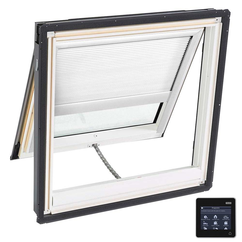 21 in. x 26-7/8 in. Venting Deck-Mount Skylight with Laminated Low-E3