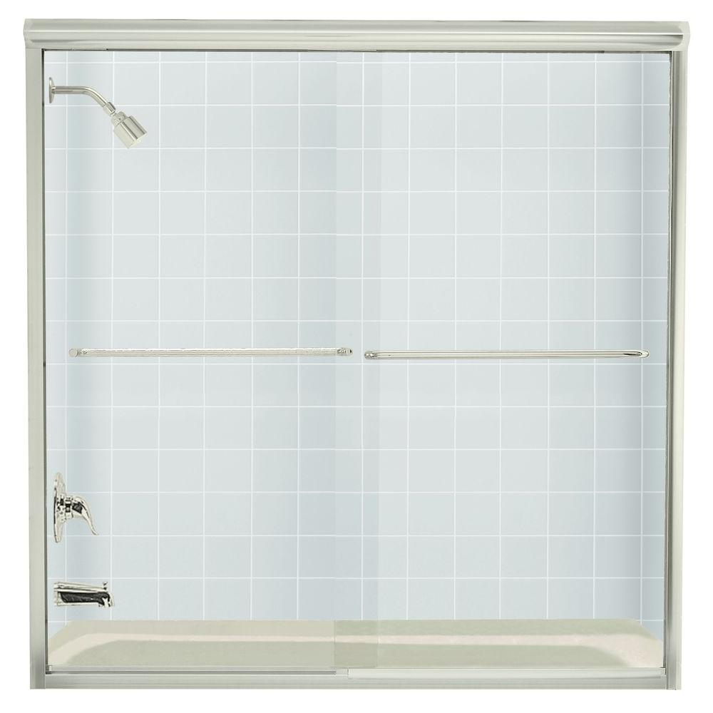 STERLING Finesse 59-5/8 in. x 58-5/16 in. Frameless Sliding Tub ...