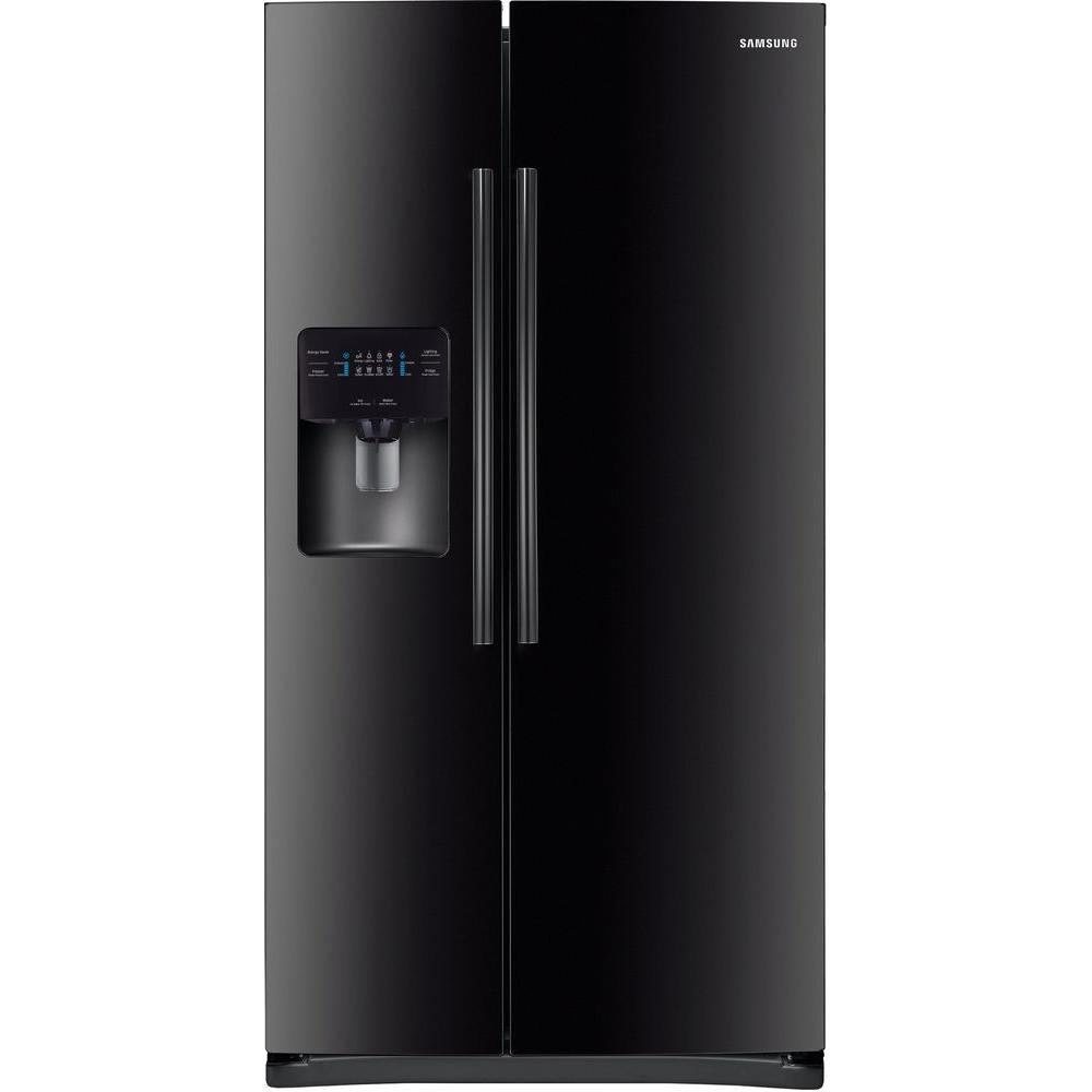 Side by Side Refrigerator in Stainless Steel-RS25J500DSR - The Home Depot bb18ec66dfa5