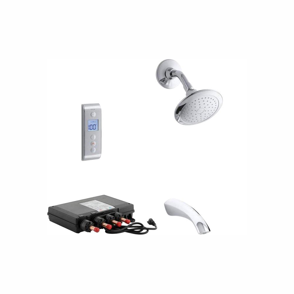 KOHLER Mistos DTV Prompt Digital Single-Handle 1-Spray Tub and Shower Faucet System in Polished Chrome (Valve Included)