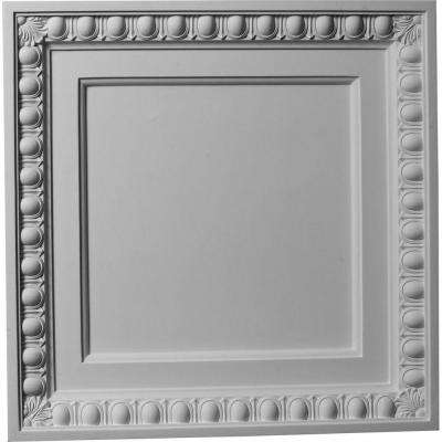 2-3/8 in. x 24 in. Polyurethane Egg and Dart Ceiling Tile