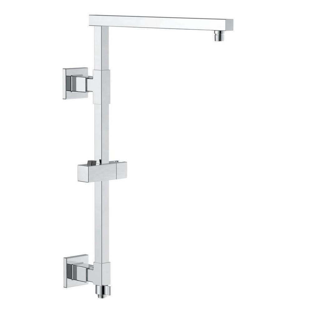 Emerge 18 in. Angular Modern Column Shower Bar in Chrome