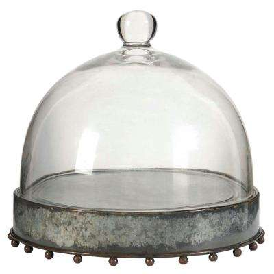 Knox 10.5 in. x 10 in. Decorative Plate with Glass Lid