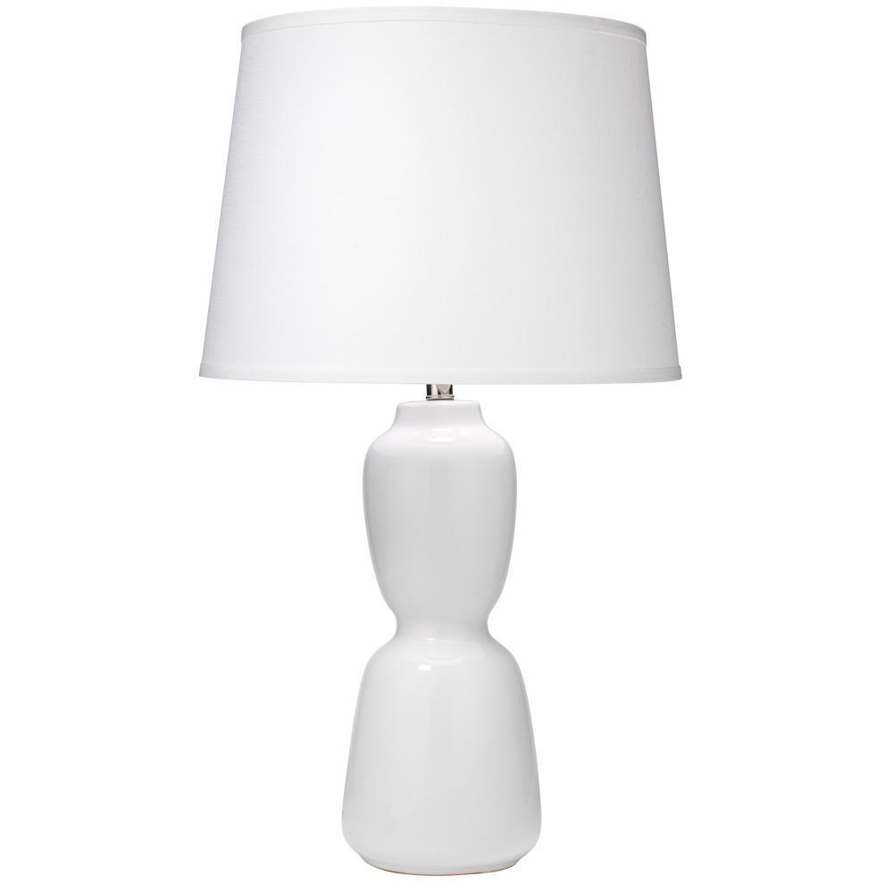 8e125fb2b9e97 31.25 in. White Corset Table Lamp with Shade-9CORSWHC131L - The Home Depot