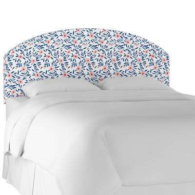 Fiona Floral Porcelain Blush Full Curved Headboard