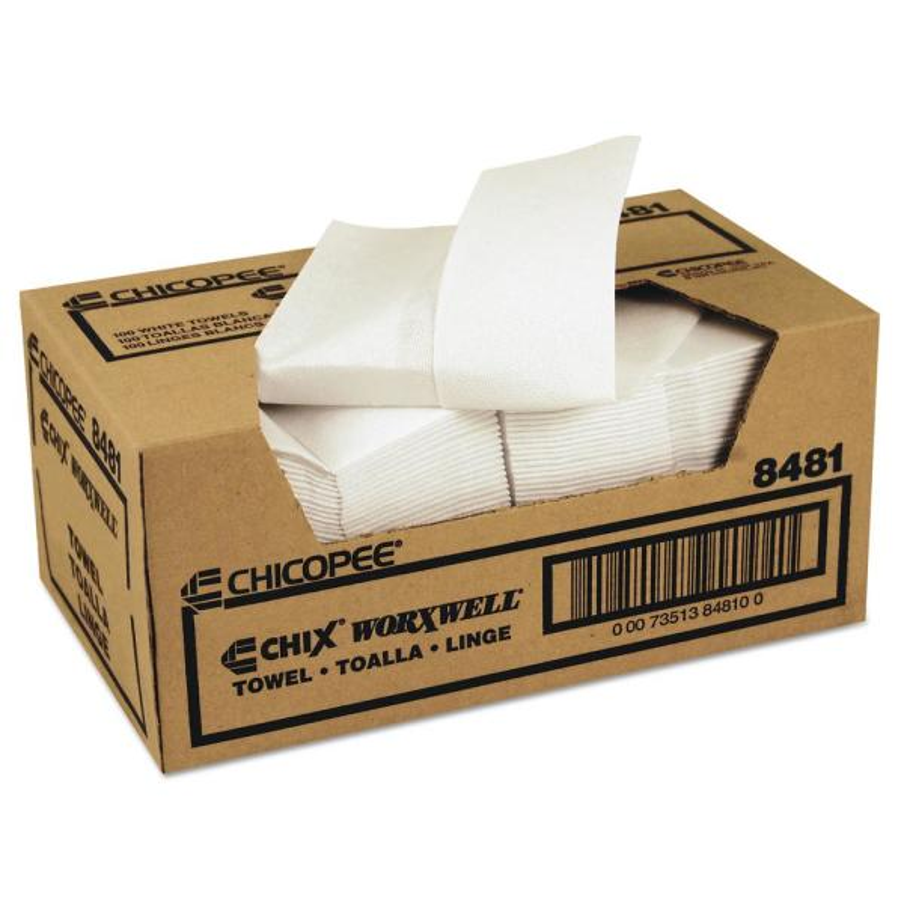 Durawipe Shop Towels 13 x 15 Z-Fold White (100 Sheets per Carton)