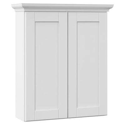 Stirling 24 in. W x 28-1/2 in. H x 7-1/4 in. D Bathroom Storage Wall Cabinet in White