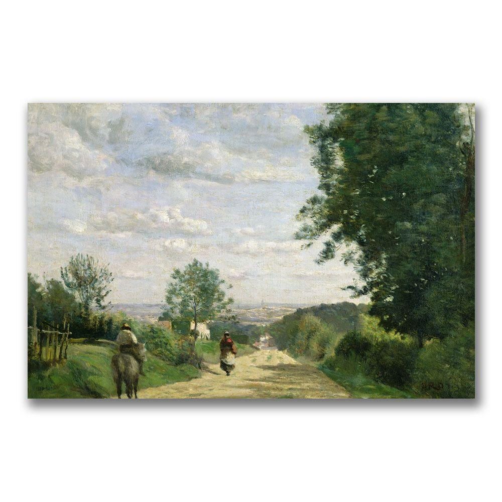 22 in. x 32 in. The Road to Sevres Canvas Art