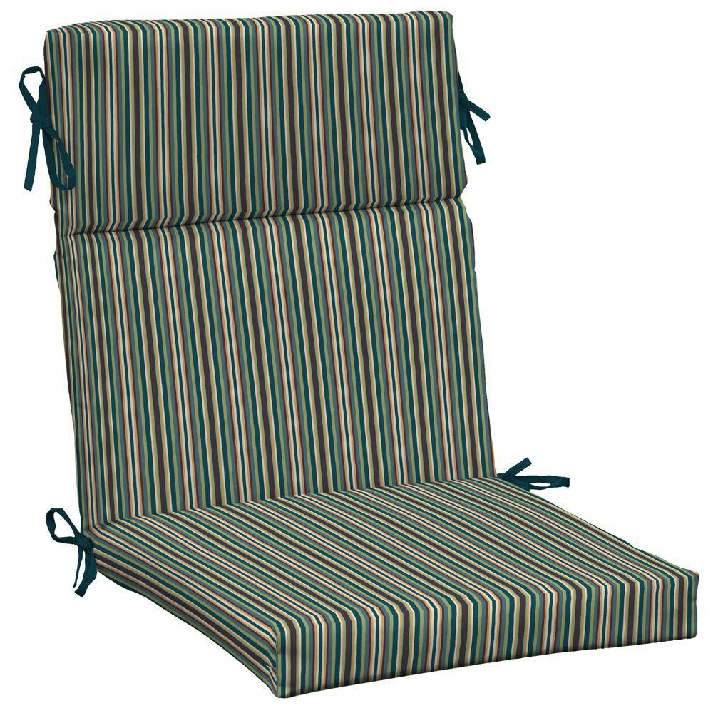 Arden Devon Stripe Lotus High Back Outdoor Chair Cushion-DISCONTINUED