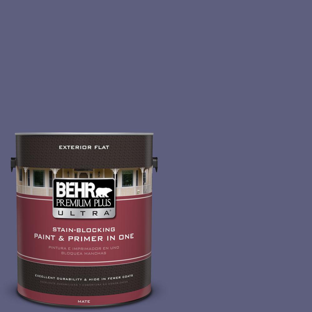 BEHR Premium Plus Ultra 1-gal. #M550-7 Strong Iris Flat Exterior Paint