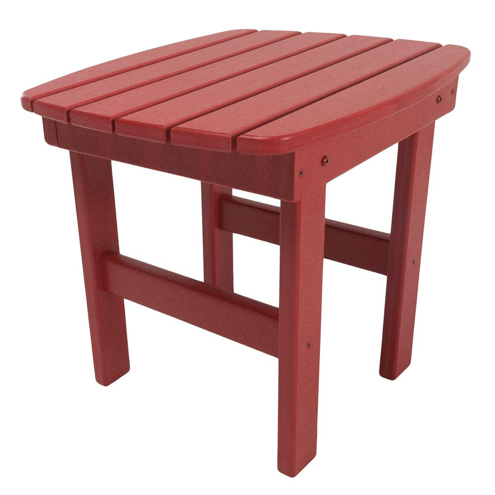 Essentials Red Square Durawood Outdoor Side Table