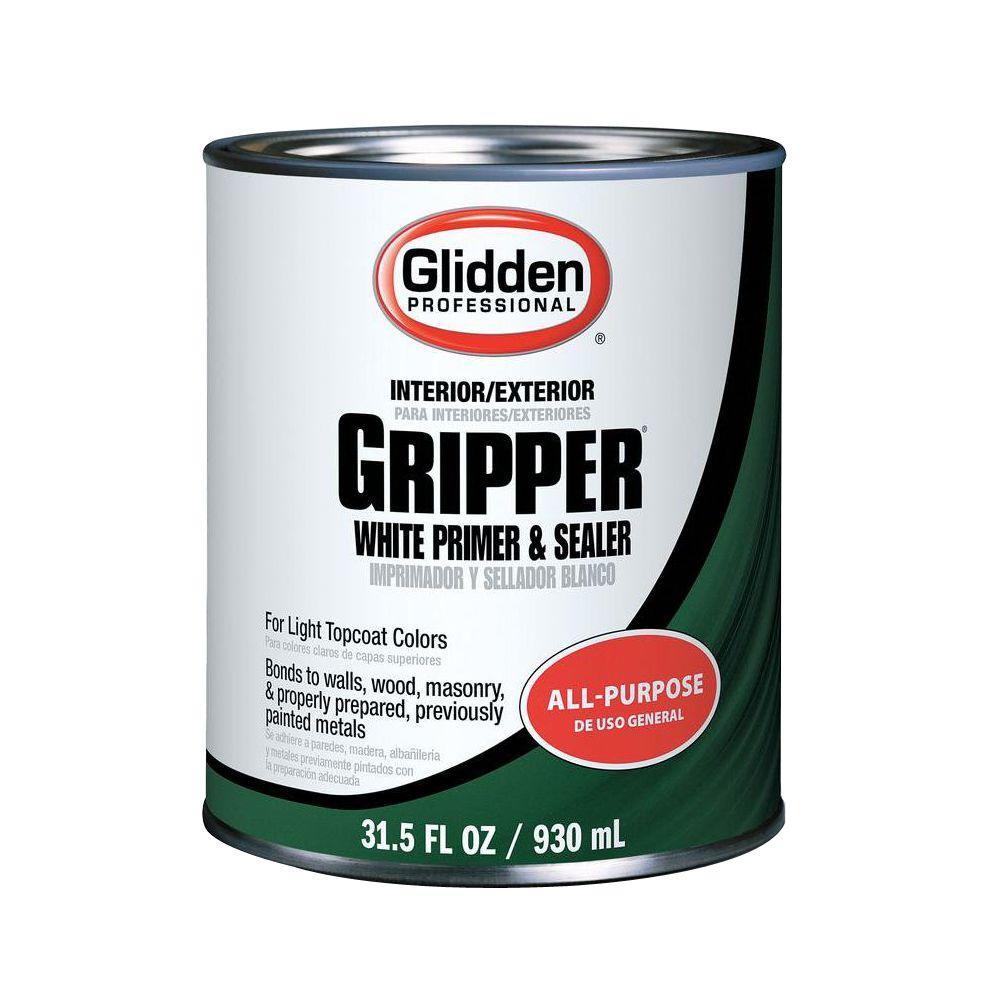 Glidden Gripper 1 qt. Gripper Interior/Exterior White Primer Sealer