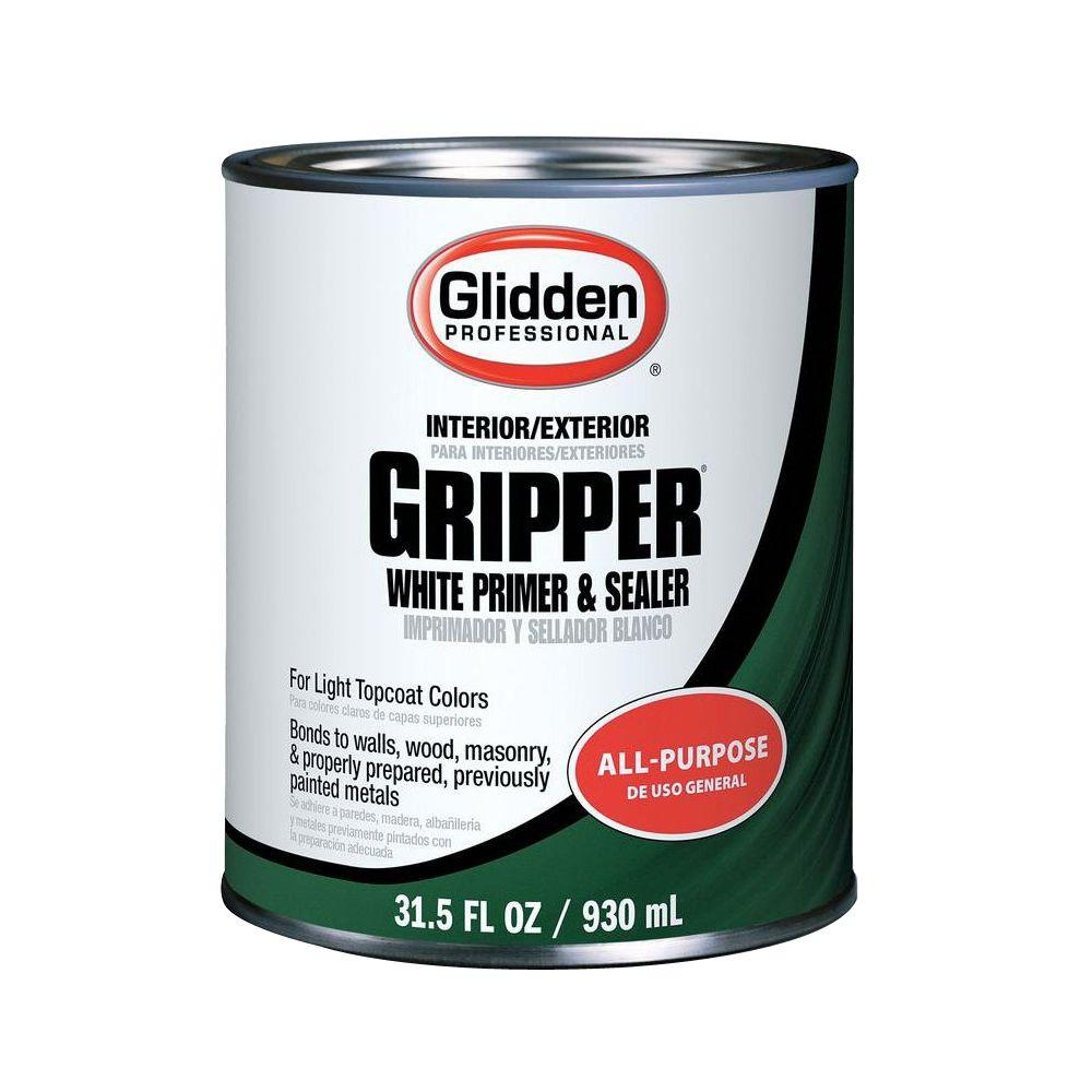 Glidden Gripper 1 Qt Gripper Interior Exterior White Primer Sealer Gpg 0000 04 The Home Depot