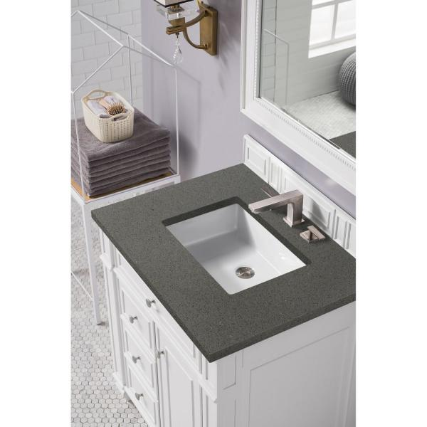 James Martin Vanities Bristol 30 In Single Vanity In Bright White With Quartz Vanity Top In Grey Expo With White Basin 157 V30 Bw 3gex The Home Depot