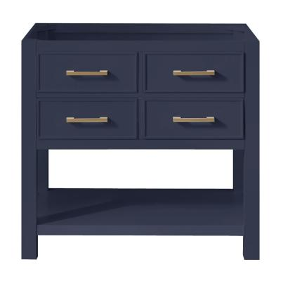 Brooks 42 in. W x 21.5 in. D Bath Vanity Cabinet Only in Navy Blue