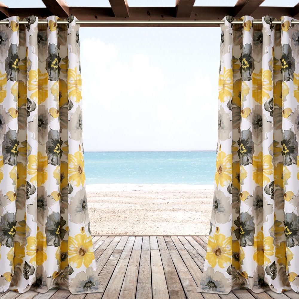 """Leah Window Panel in Yellow - 84"""" x 52"""""""