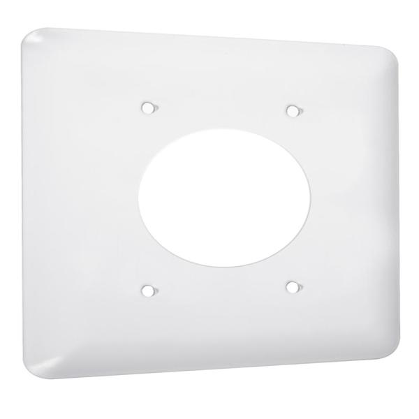 White 1-Gang Dryer Outlet Wall Plate (1-Pack)