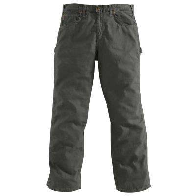 Men's 34x30 Charcoal Cotton Straight Leg Non-Denim Bottoms