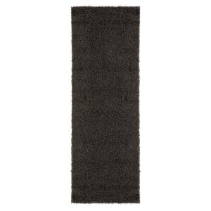 ottomanson shag collection dark gray 3 ft x 8 ft runner rug shg2764 3x8 the home depot. Black Bedroom Furniture Sets. Home Design Ideas