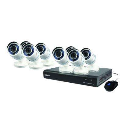 8-Channel TVI 720p DVR with 1TB and 8 x T845 Bullet White Cameras