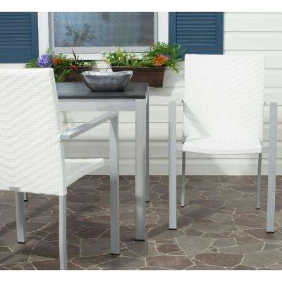 Cordova Off-White Indoor-Outdoor Patio Stacking Armchair (Set of 2)