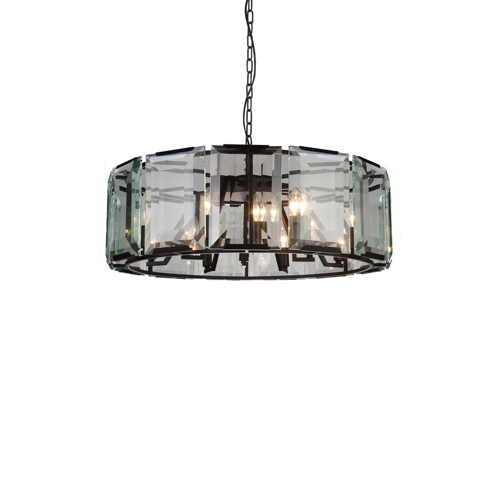 CWI Lighting Jacquet 12-Light Black Chandelier