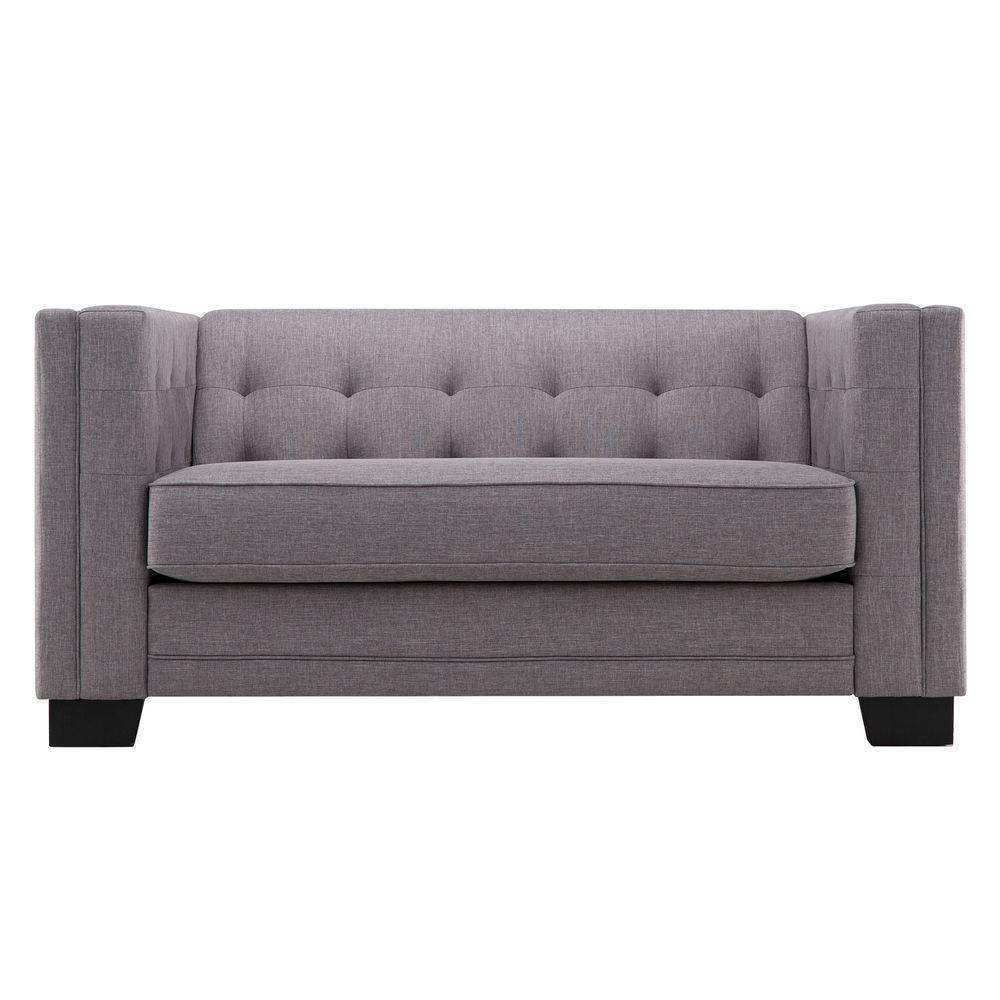 bench back seat settee love sofa modern bedroom velvet high loveseat beige tufted ip belleze