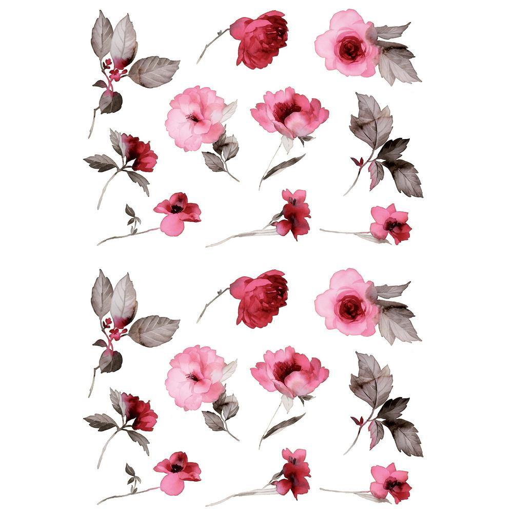 Home Decor Line Infinity Flower Pink Wall Decal Cr 57712 The Home