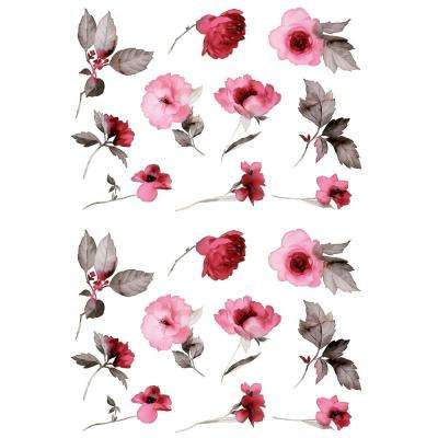 Infinity Flower Pink Wall Decal