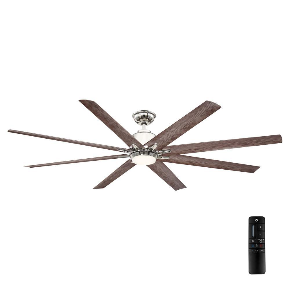 Home Decorators Collection Kensgrove 72 in. LED Indoor/Outdoor Polished Nickel Ceiling Fan with Remote Control