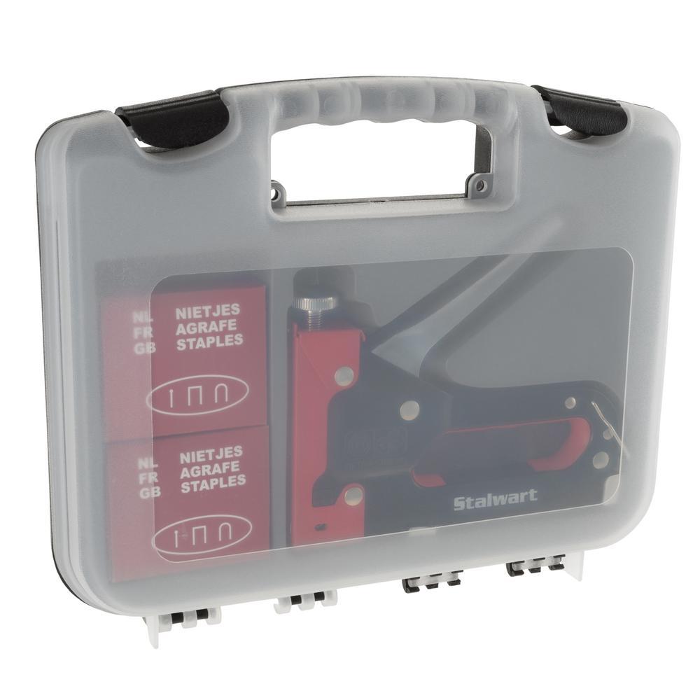 Light Duty Staple Gun Kit with Case in Red