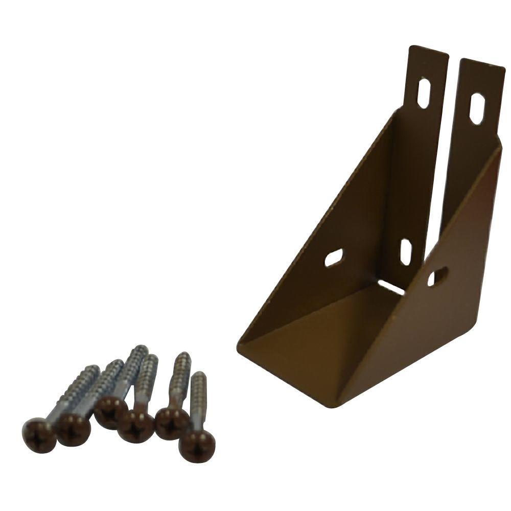 Veranda 1-1/2 in. x 3-3/4 in. Jatoba Composite Fence Rail Bracket with Screw