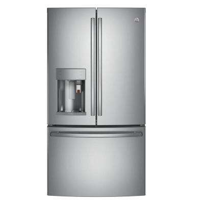 Profile 36 in. W 22.1 cu. ft. Smart French Door Refrigerator with Keurig K-Cup in Stainless Steel, Counter Depth