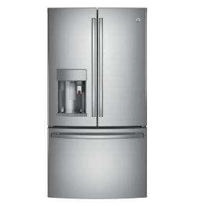 Click here to buy GE Profile 36 inch W 22.1 cu. ft. Smart French Door Refrigerator with Keurig K-Cup in Stainless Steel, Counter Depth by GE.