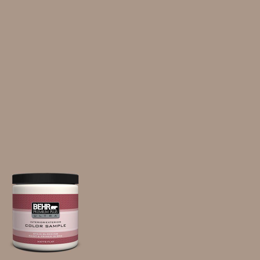 BEHR Premium Plus Ultra 8 oz. #N230-4 Chic Taupe Interior/Exterior Paint Sample