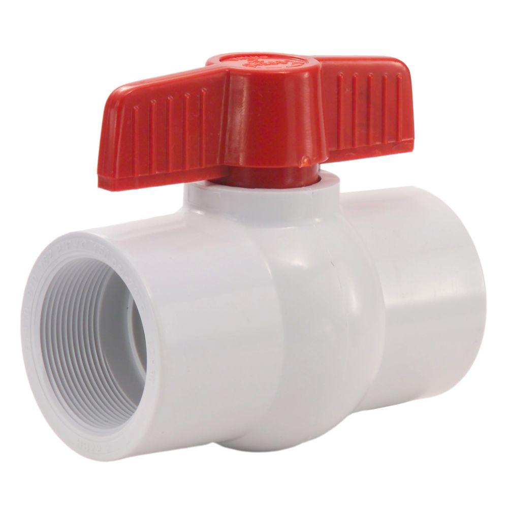 LEGEND VALVE 2 in. PVC Threaded FPT x FPT Ball Valve
